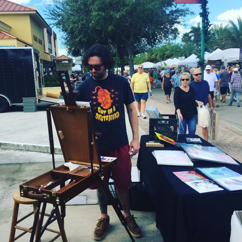 breshnyda is doing live painting to hotelcalifornia on repeat capecoralhellip