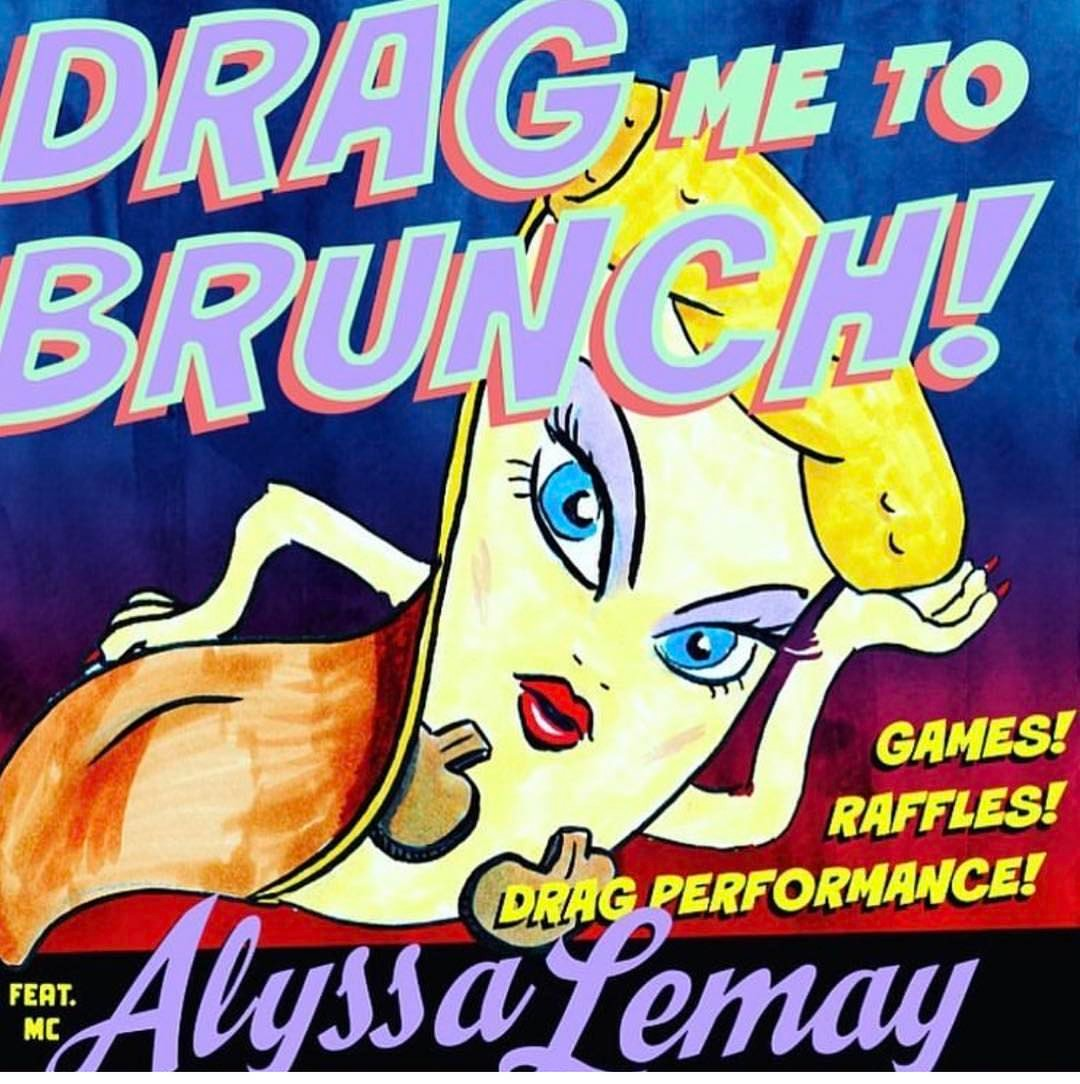 DRAG BRUNCH SUNDAY noon3 this upcoming Sunday!!! Cant wait!!! dragmetobrunchhellip